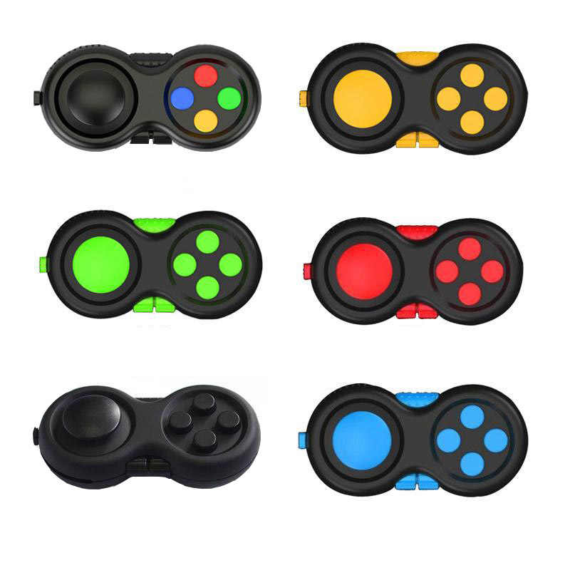 1PC Fidget Pad Cube Stress Reliever Squeeze Fun Magic Cube Fidget Desk Toy Handle Toys Stress Rainbow Strange-shape Puzzles