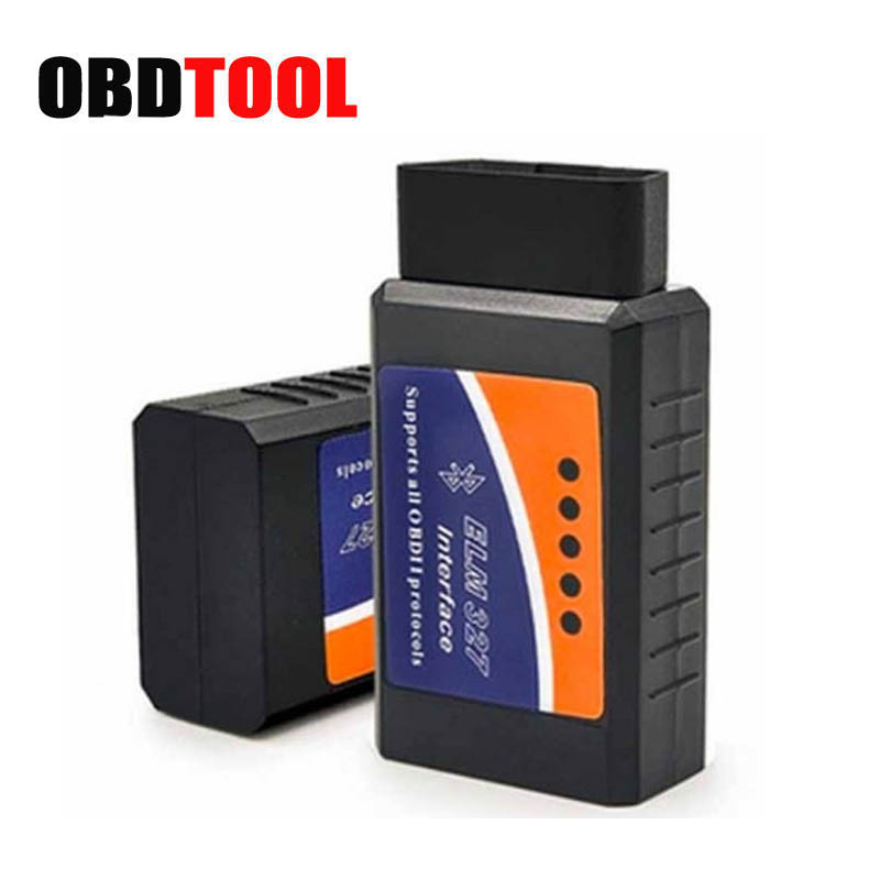V1.5 / 2.1 Hardware Option ELM 327 Bluetooth Adapter Works On Android Torque Elm327 BT Interface OBD2 / OBD II Code Reader JC10