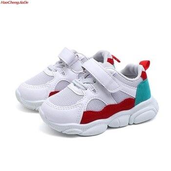 6efc0d08d HaoChengJiaDe Брендовая обувь для девочек Повседневное детская обувь  дышащая модная детская одежда кроссовки для мальчиков и