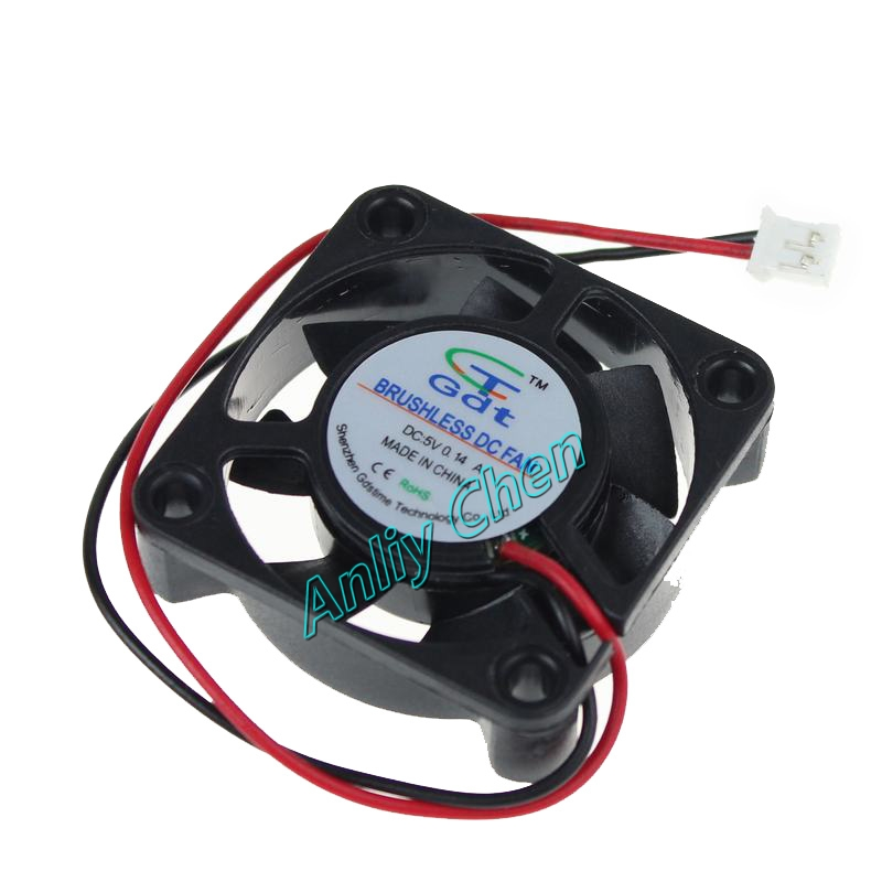 5 PCS LOT GDT 40mm 40 x 40 x 10mm 4010s DC 5V 2Pin Cooling Heatsink Radiator Fan