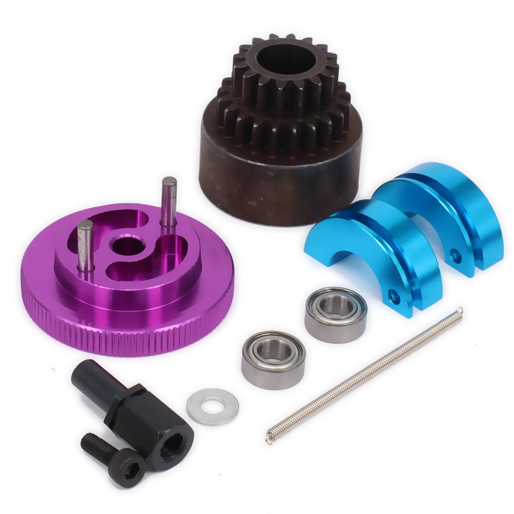 16-21 Tooth Teeth Two Speed Clutch Set Bell Shoes Springs Flywheel Bearings Axle16T-21T For 1/10 RC Nitro Car HPI HSP Traxxas top high speed full teeth piston