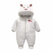 Newborn Baby Rompers Winter Thick Cotton Boys Costume Girls Warm Clothes Kid Jumpsuit Children Outerwear Baby