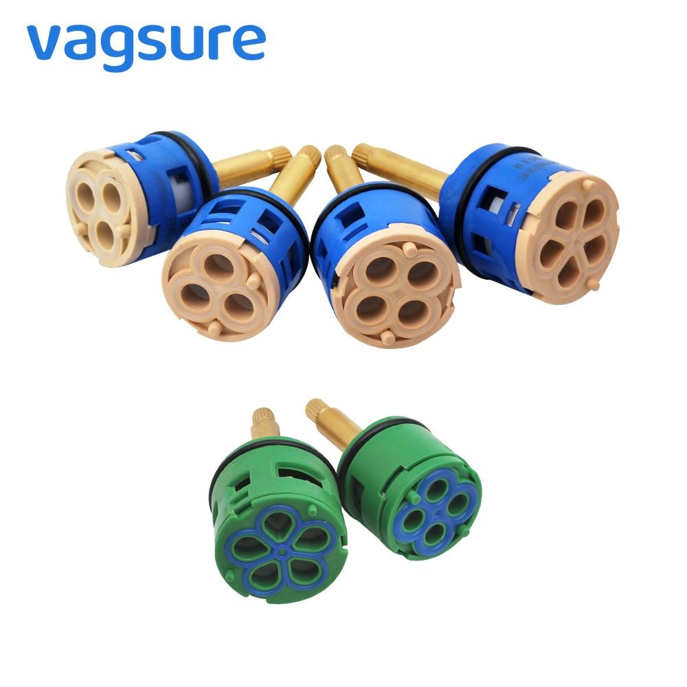 Shower Valve Ceramic Faucet Cartridge 2/3/4/5 Way Shower Diverter Mixing Valve Tap Faucet Replacement Parts Sizes 31/35/44mm