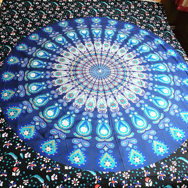 Bohemian Bed Cover 3d boho Mandala printing bed sheet Indian Home Decor Bedspread cotton tapestry Wholesale