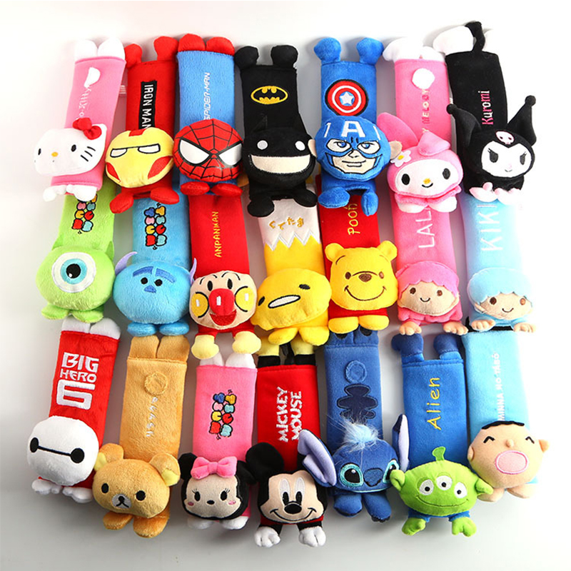 Animal Baby Shoulder Cover Cushion Car Safety Stroller Toy Seat Belt Pads