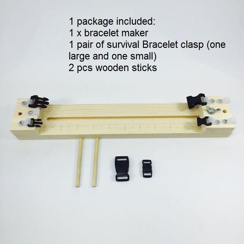 1pcs Adjustable Length Paracord Jig Bracelet Maker Wooden Frame-paracord Braiding Weaving Diy Craft Tool Kit Bracelet Maker
