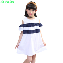 New Girl Dresses 2017 Summer Kids Fashion Dress Shawls Lace Clothes Floral Design Formal Dress For 3-12 years old Girls Clothing недорого