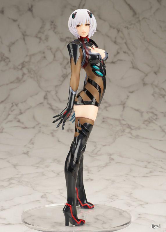 24cm EVA Neon Genesis Evangelion Ayanami Rei Black Action Figure PVC Toys Collection Doll Anime Cartoon Model