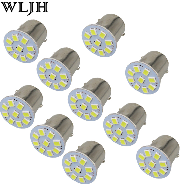WLJH 10x 24V Led 1156 BA15S P21W 1157 3528 External Light Car Truck Trailer RV Brake Reverse Backup Lights Turn Signal Lamp Bulb