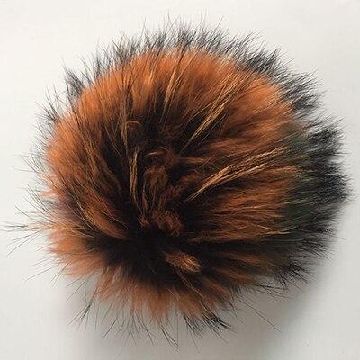 ZJBECHAHMU Hats Winter Real Fox Fur pompoms 15cm Skullies Hat Scarf Women Girls Snapback Hat Caps 2018 New Apparel Accessories in Women 39 s Skullies amp Beanies from Apparel Accessories