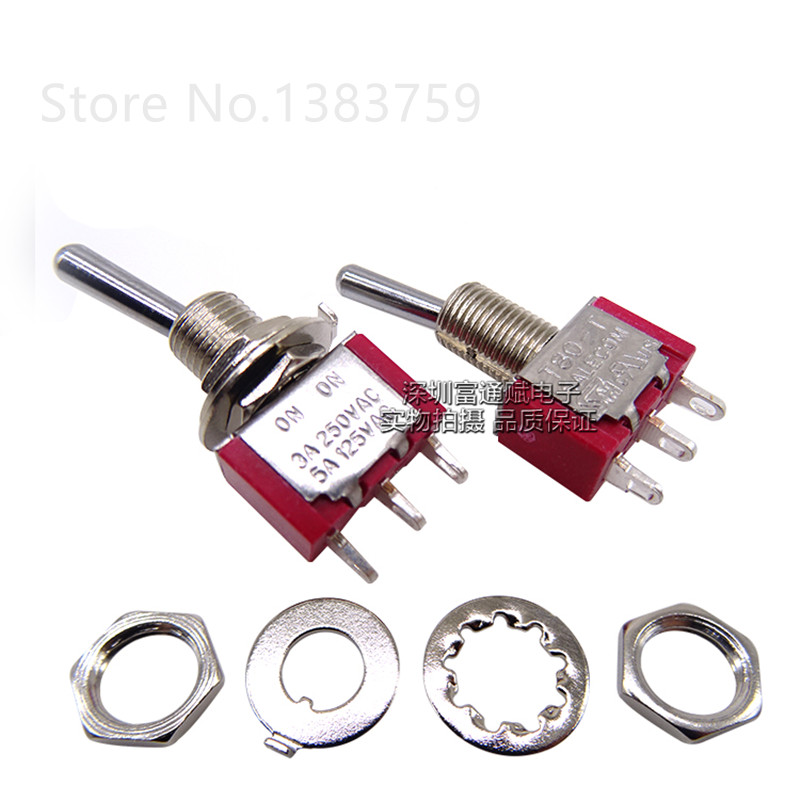 2pcs 3 feet 2 steps rocker arm switch <font><b>T8013</b></font>-SEBQ T80-T toggle switch image