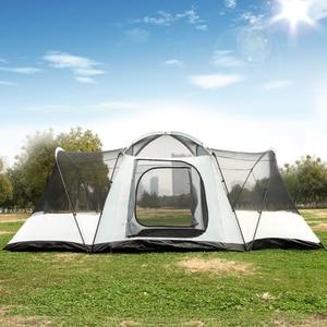 Image 5 - Ultra 8 12 Person Einer Halle 2 Schlafzimmer Doppel Schicht Wasserdichte Starke Camping Zelt Familie Zelt Carpas De Camping große Pavillon