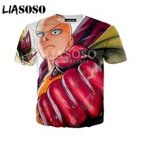 LIASOSO Summer New Men Women T-Shirt 3D Print Cute Anime One Punch Man Sweatshirt Fashion Unisex Short Sleeve Top Pullover A010  4
