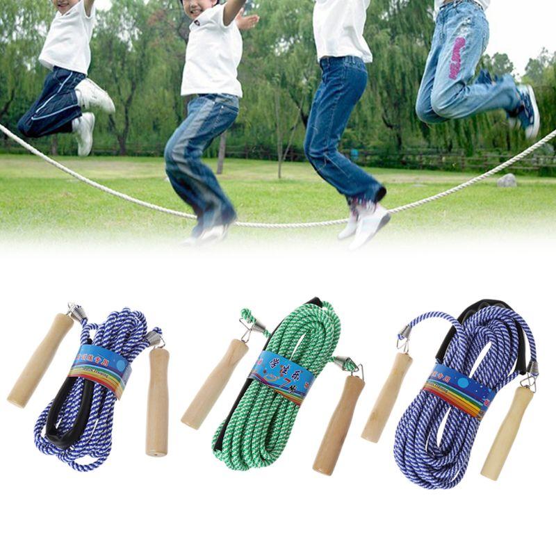 Горячая деревянная Ручка пропуск 5 м 7 м 10 м тренажерный зал школьная группа мульти человек нейлоновая веревка прыжки