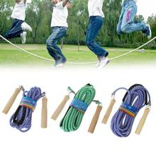 Punho de madeira quente pular 5m 7m 10m ginásio escola grupo multi pessoa corda de náilon pulando