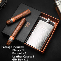 Alalinong A05 5.5 Ounce Pocket Hip Flask Food Grade Stainless Steel Snake Print Canteen For Whiskey Vodka Alcohol With Gift Box