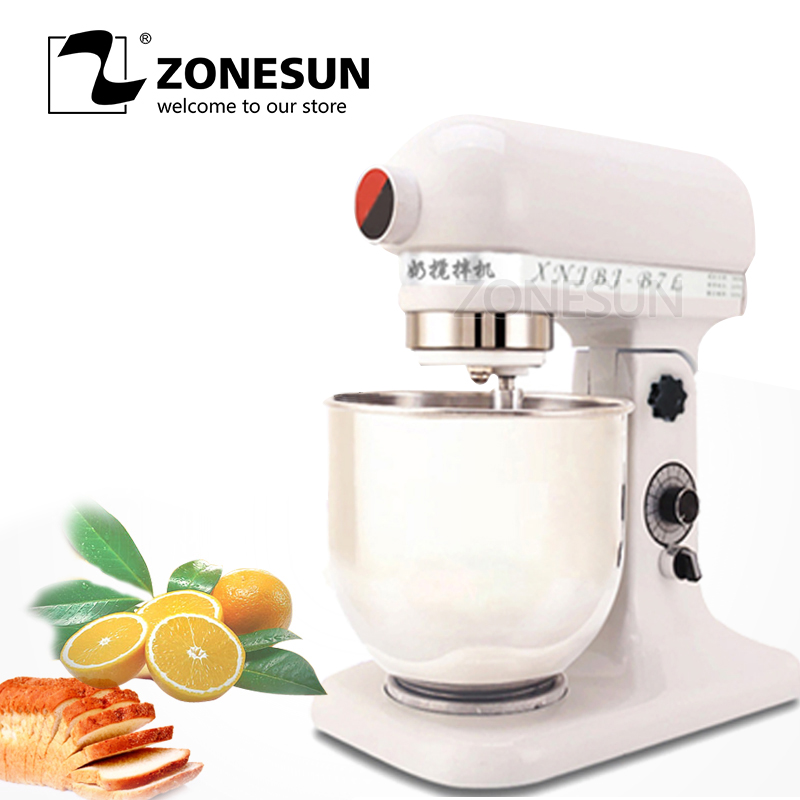 все цены на ZONESUN 380W 220V Professional Commercial Electric Flour Egg Blender 7L Milk-shake Beater Kitchen Stand Mixer Dough Mixer