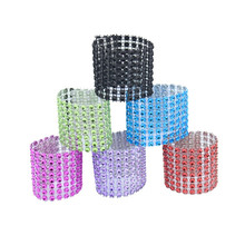 20Pcs Multicolor Rhinestone Napkin Rings for Wedding Birthday Party Christmas Dinner Table Diy Decoration Supplies Accessoties