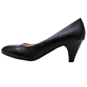Image 4 - YALNN Women Shoes Black Pumps 5cm New Med Heel Pumps Pointed Toe Classic Black Leather Shoes Office Ladies Shoes