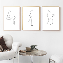 Sexy Girl Poster Minimalist Art Poster Nude Poster Black And White Wall Art Canvas Painting Abstract Picture Nordic Unframed постер poster art 50305025 мдф
