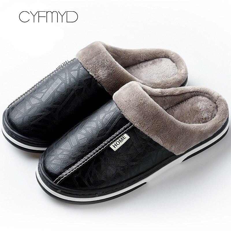 Men's slippers Winter Non slip Indoor