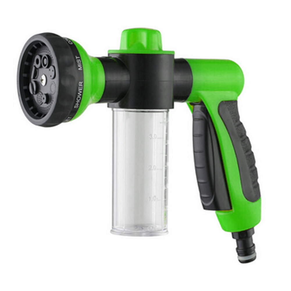 New Arrival 8 Spray Pattern Adjustable High Pressure Water Gun  for Car Wash Flower Wash or Pet Wash Watering