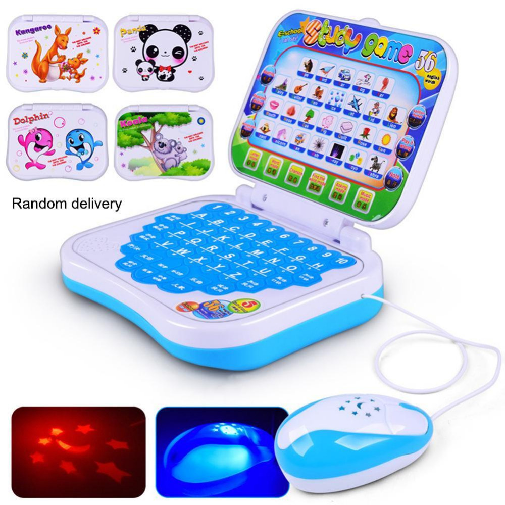 Toy Computer Baby Kids Pre School Educational Learning Study Laptop Game Send in Random image