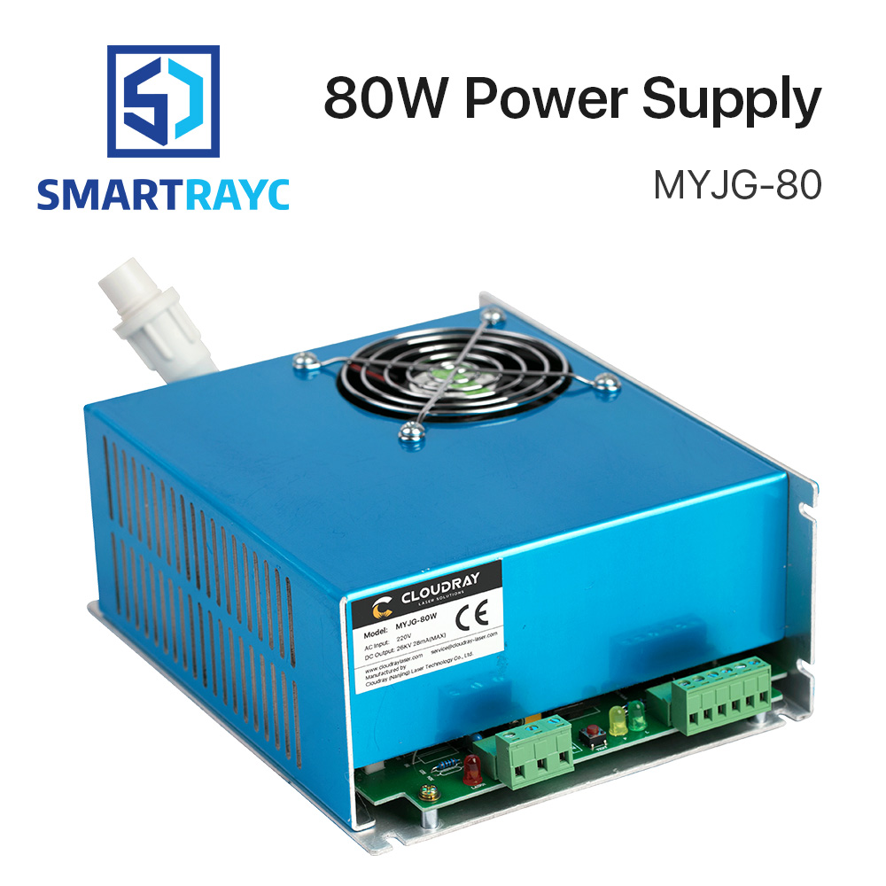 Smartrayc 80W CO2 Laser Power Supply for CO2 Laser Engraving Cutting Machine MYJG-80 co2 laser machine laser path size 1200 600mm 1200 800mm