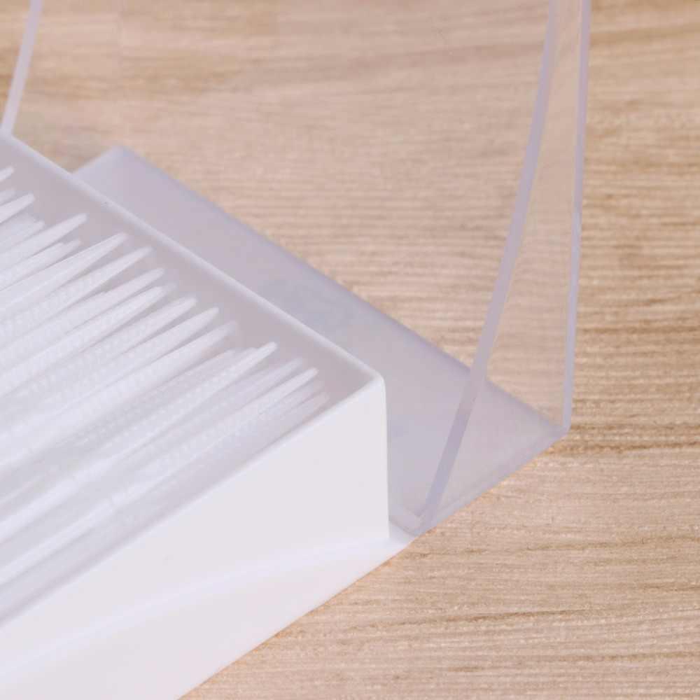 150 sztuk/partia z podwójną głowicą szczotka kij niciowykałaczka miękkie plastikowe wykałaczki pielęgnacja jamy ustnej 6.5cm