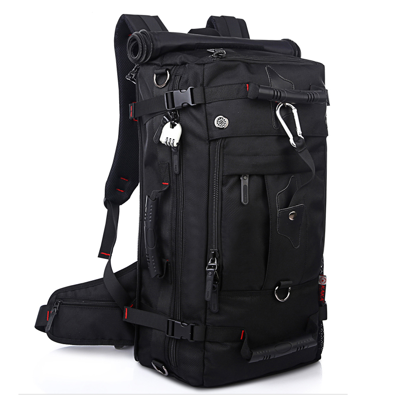 Brand Large Capacity Travel Backpack Shoulder Bag Men Mountaineering Bags 40L Oxford Cloth Lockable Waterproof and Durable B54 2016 new arrival large capacity travel backpack mountaineering bag oxford men s bag free shipping