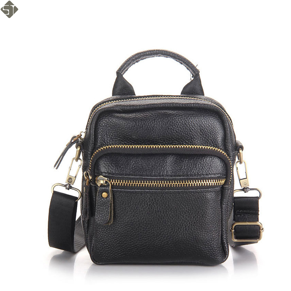 high quality leather men messenger bag first layer cow leather shoulder bags casual men handbag crossbody small men bags black 2017 hot high quality brand baotou layer of cow leather bags the new ms tassel handbag is a 100% leather handbag
