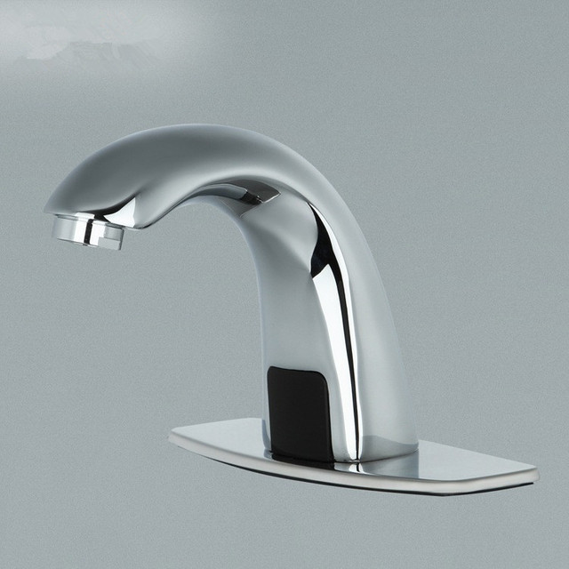 Automatic Electronic Hands Free Bathroom Faucet Basin Cold Water Touchless  Mixer Infrared Basin Sensor Water Faucet