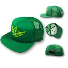Anime Legend Of Zelda Green Embroidery Net Cap Baseball Cap Outdoor Sun Hat Cosplay Hat