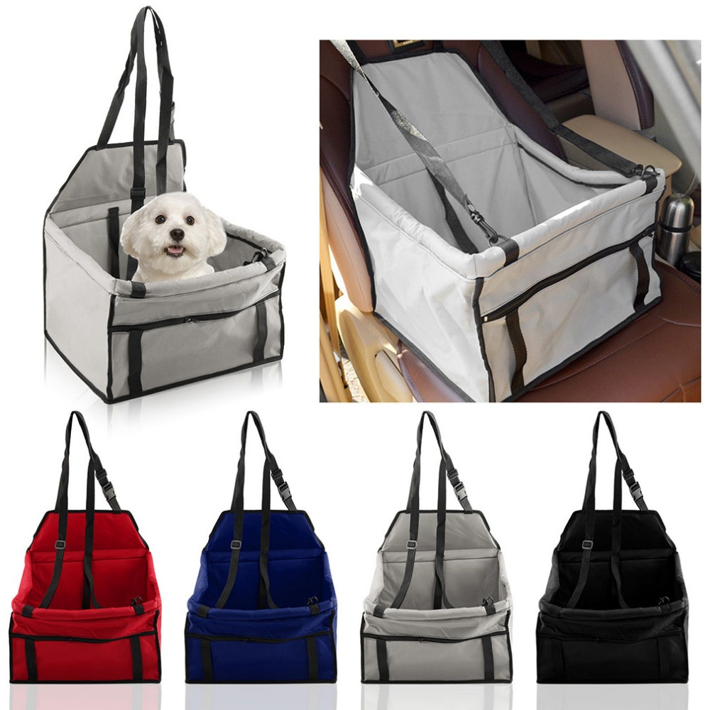 Newest Foldable Pet Dog Cat Automatic Car Seat Cover Carrier Durable Waterproof Travel Pet Car Seat Carrier Safety Belt Cover