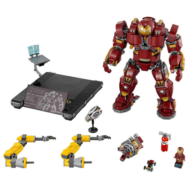 1527pcs Super Heroes Series Avengers Hulkbuster Model Diy Building Block Compatible With Legoingly Bricks Toys For Children