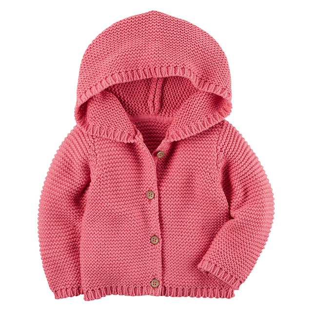 63a5b98f9 2017 Fashion baby boy girl sweaters 9M 3T hooded pullover kids ...