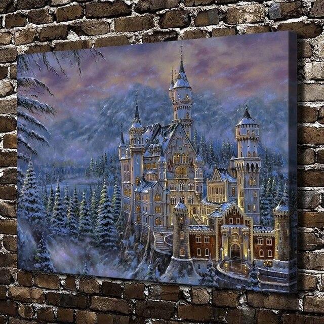 f1827695aa 10152 castelli fantasy di arte carta da parati Paesaggio. HD Stampa Su Tela  della decorazione