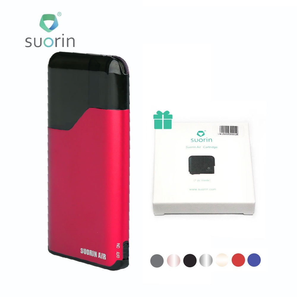 Neue Original Suorin Air Starter Kit w/400 mah Batterie & 2 ml pod Patrone Alle-in- ein Kit Pod Vape Kit vs Minifit/novo pod kit