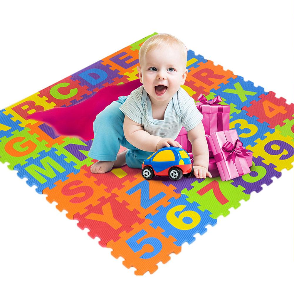 Children's Crawling Mat 36 Pieces Of Digital Letters Puzzle Foam EVA Puzzle Mats Shatter-Resistant Cold Protection