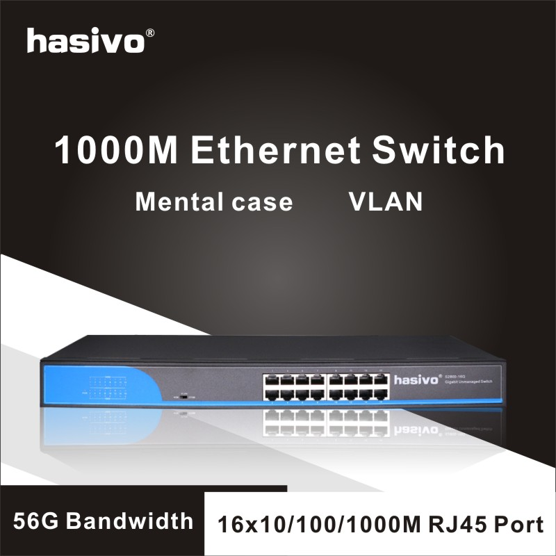 16 Port  RJ45 Gigabit Enthernet switch  lan switch ethernet switch-in Network Switches from Computer & Office