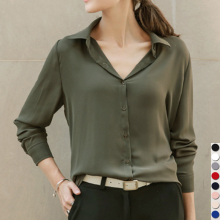 Long Sleeve Chiffon Top For Girls