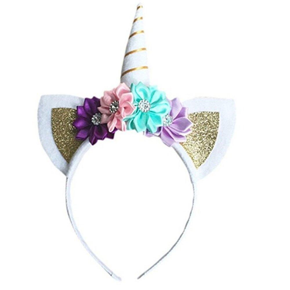 Einhorn Horn Blumen Katzenohren Haarband Haar Kopf Hoop Bands Geschenke Zubehör Für Mädchen Kinder Party Kopfschmuck Dekorationen Neue 100% Original