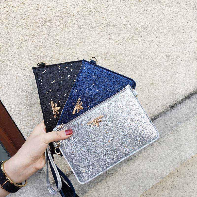 2018 Mode Mädchen Messenger Handtasche Handtasche Pailletten Umschlag Kupplung Kette Casual Bag Lby2018 Ein BrüLlender Handel