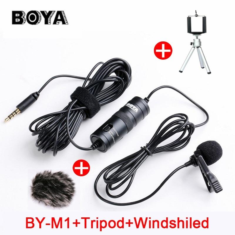 BOYA BY-M1 Lavalier Omnidirezionale A Condensatore Microfono per Canon Nikon Sony, per il iphone 7 6 s Più DSLR Videocamera Audio registratore
