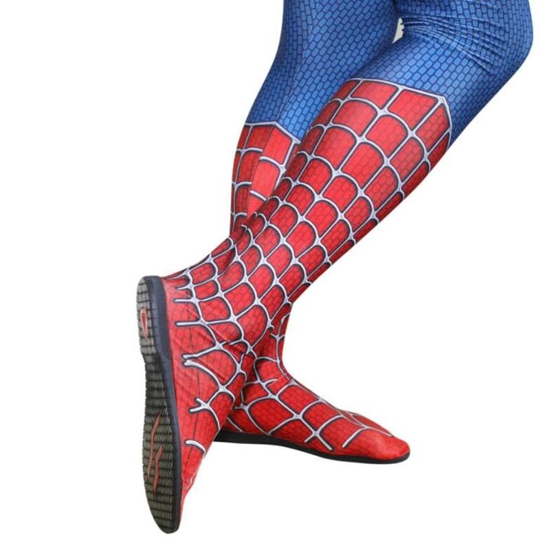 Superhero Spider Man Cosplay Black Soles Props Shoes