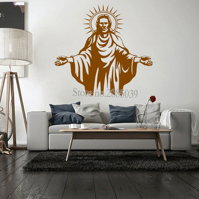 Wall Decal Of Christ Living Room Stickers Church Decals Decor Removalbe Mural Modern Art