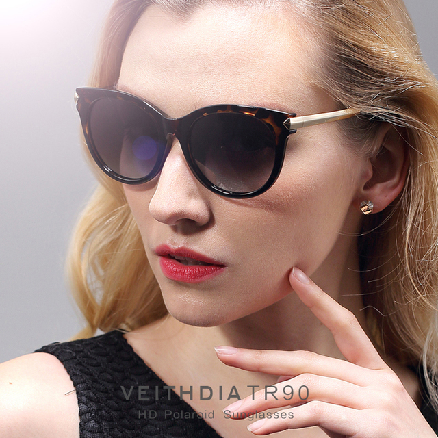 47ee752e14 VEITHDIA Retro TR90 Vintage Sun glasses Polarized Cat Eye Ladies Designer  Women Sunglasses Eyewear Accessories Female Women 7016