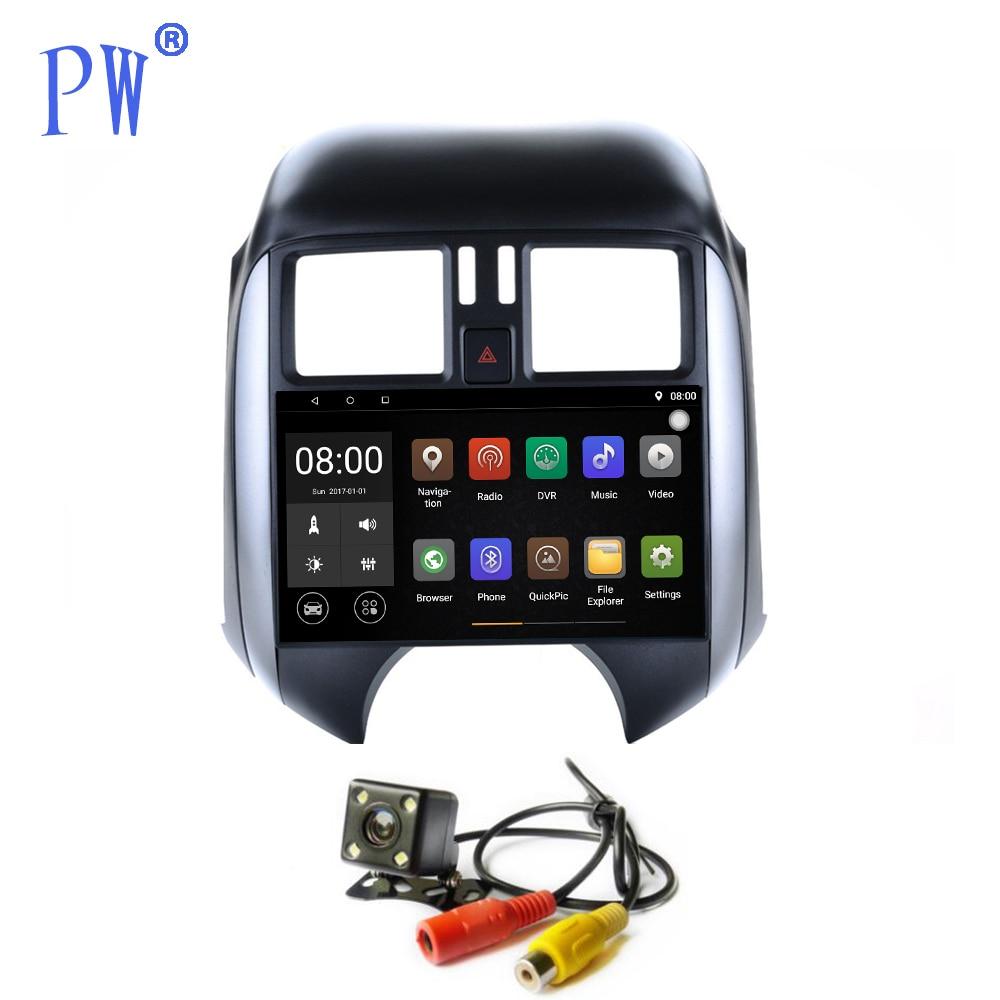 GPS de voiture Android 7.1/8.0 unité principale Navi pour Nissan Sunny 2011 2012 2013 lecteur multimédia autoradio stéréo avec GPS Bluetooth