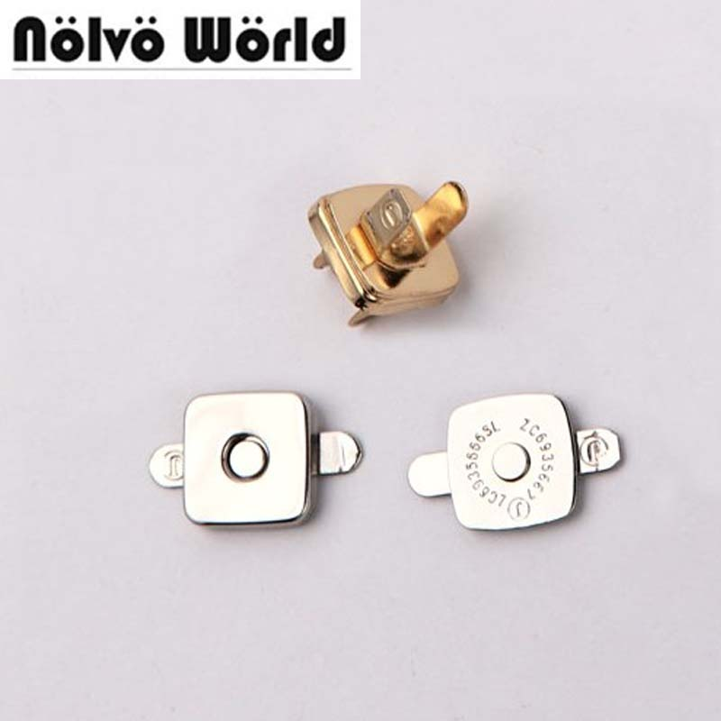 100sets 14 2mm hung plating powerful magnetic Squared snap buttons powerful thin metal magnetic button fastener