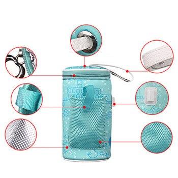 USB Baby Flasche Wärmer Heizung Isolierte Tasche Reise Tasse Tragbare In Auto Heizung Trinken Warme Milch Thermostat Tasche Für Neugeborenen fütterung